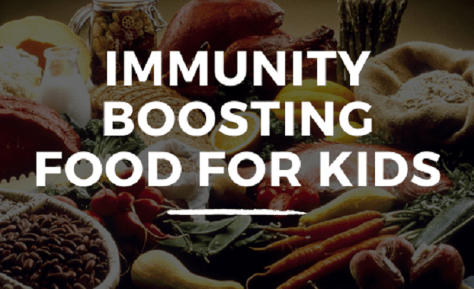 This picture acts as the banner for the blog which shows the 5 immunity boosting for kids.