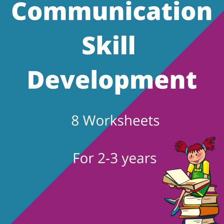 Communication Skill DevelopmentWorksheet for 2-3 year