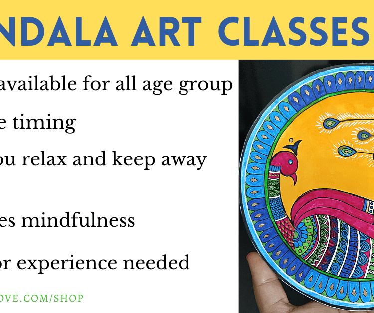 online mandala art lesson